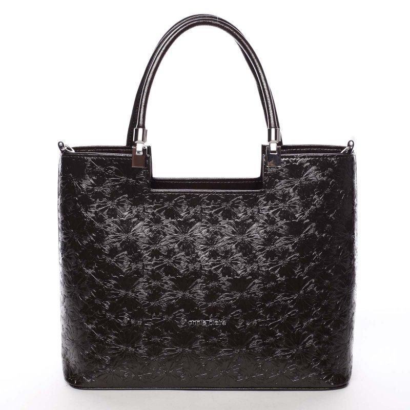Dámská květovaná kabelka Marisa, tmavě hnědá