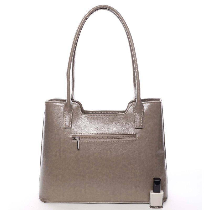 Zajímavá dámská kabelka Karen, krémová/zelená