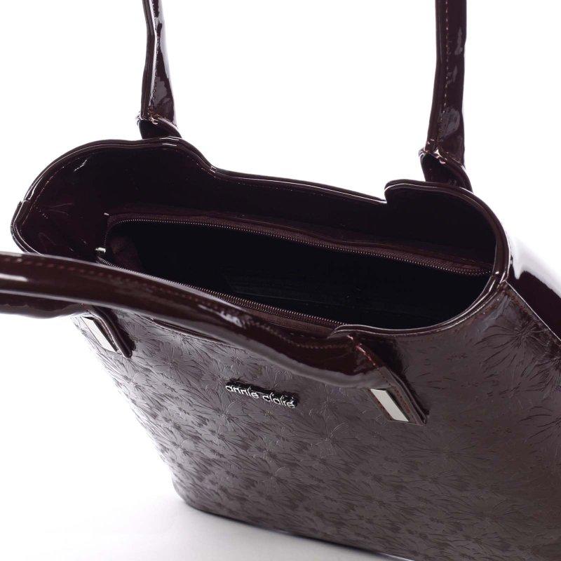 Zajímavá dámská kabelka Karen, vínová