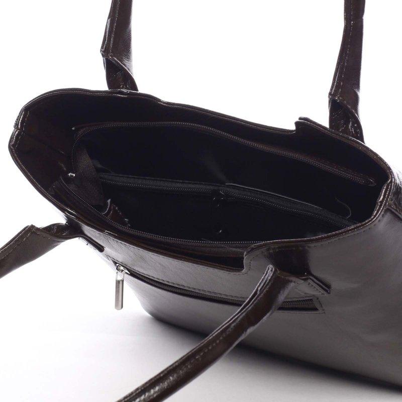 Zajímavá dámská kabelka Karen, hnědá