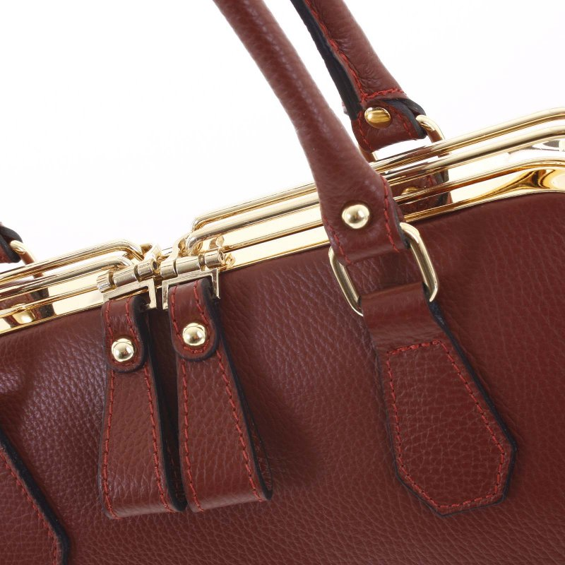 Dámská kožená kabelka Lori, červená