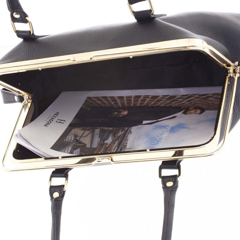 Dámská kožená kabelka Lori, černá