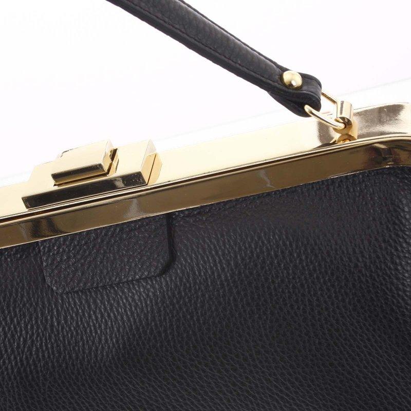 Luxusní dámská kožená kabelka do ruky Livia, černá