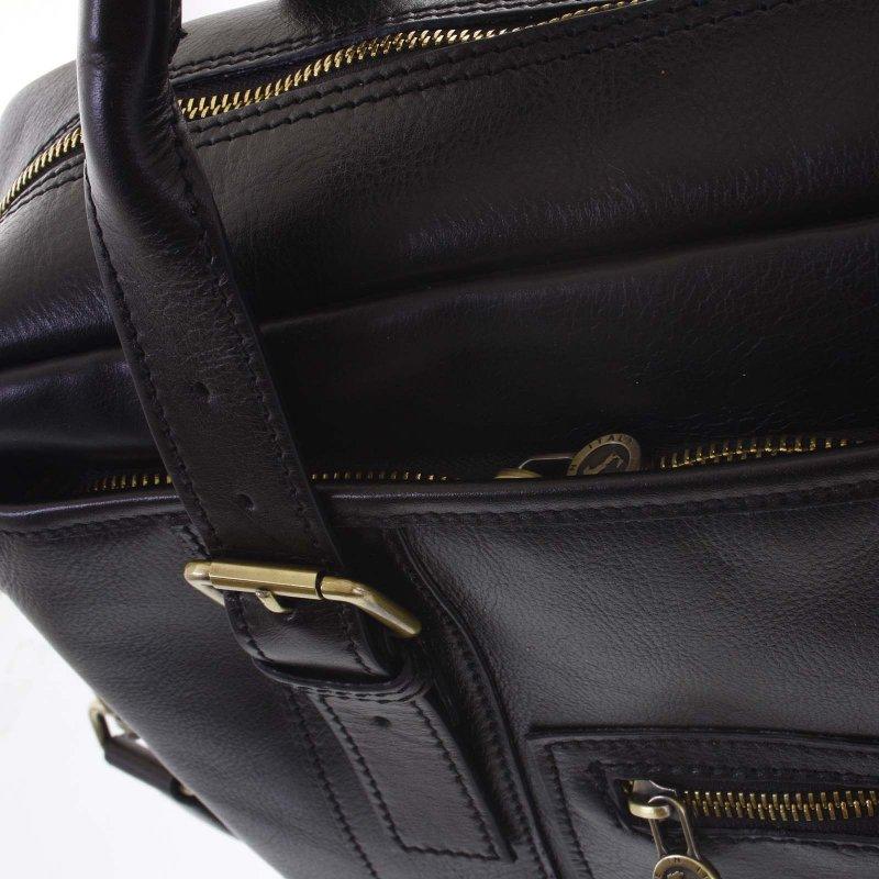 Exkluzivní kožená taška Keith, černá