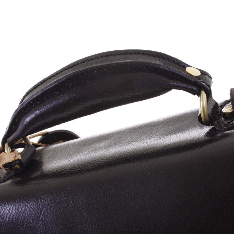 Business pánská kožená aktovka, černá