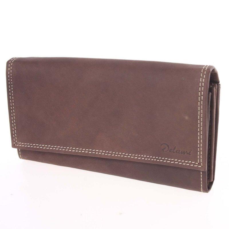 Dámská kožená peněženka Rue, hnědá