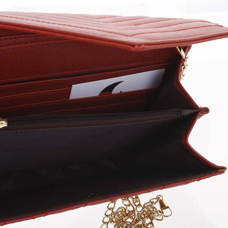 Prošívané společenské psaníčko PATRICIA, tmavě červené