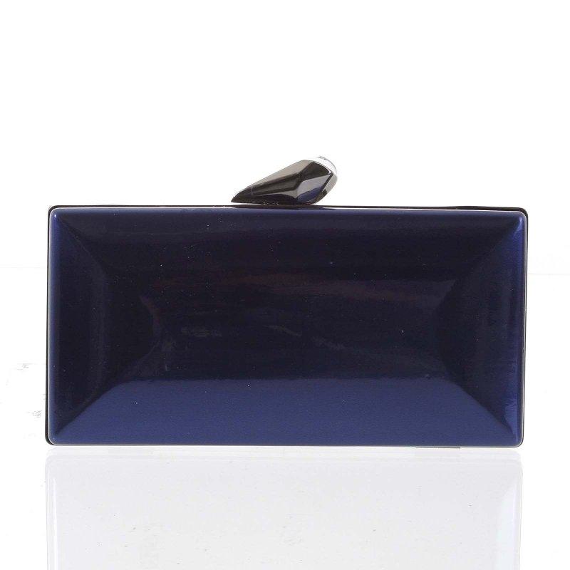 Luxusní lakované dámské psaníčko Eva, tmavě modré