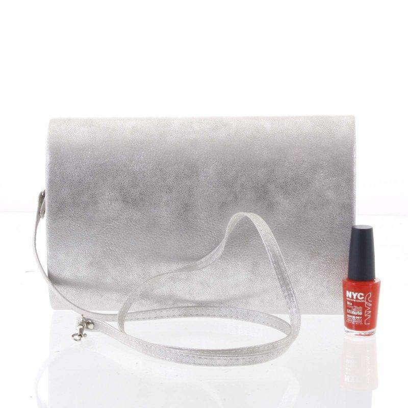 Elegantní dámské psaníčko CORINNE, stříbrné