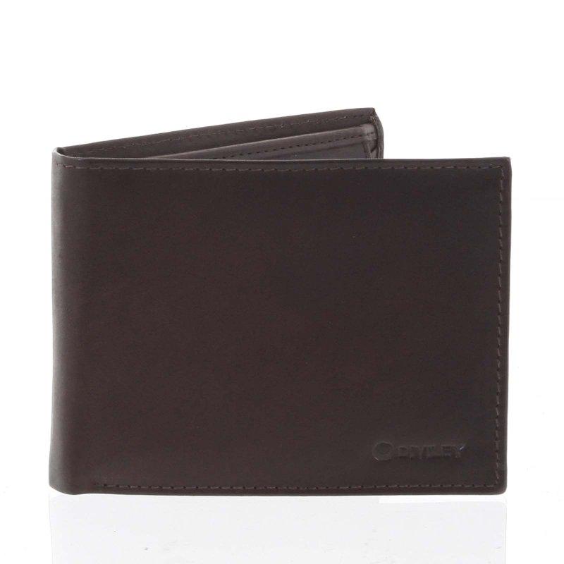 Pánská peněženka NICOLAS, hnědá matná