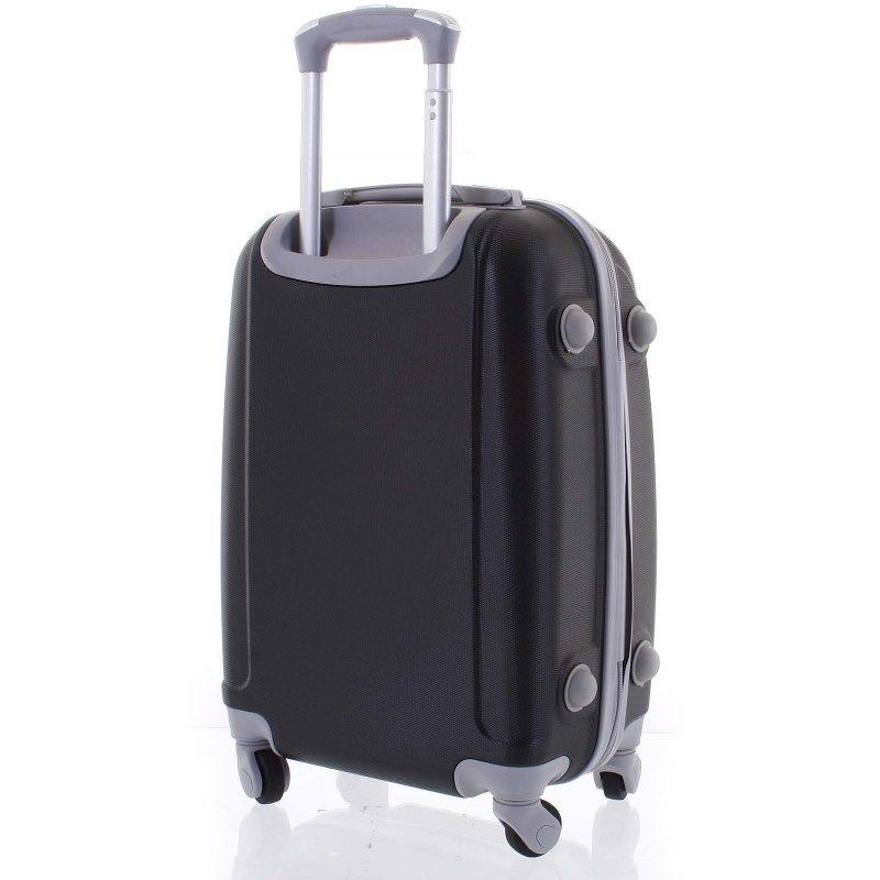 Elegantní kufr skořepinový Agrado vel.I, 4.kolečka, černý