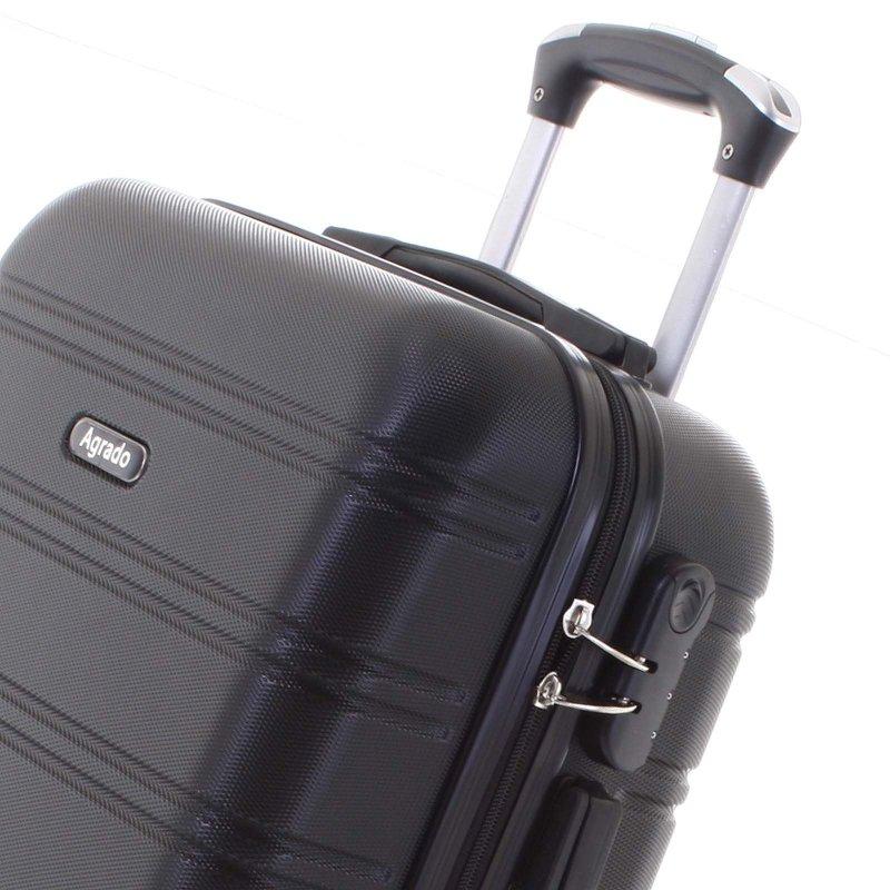 Kvalitní kufr skořepina Agrado, vel.I, 4. kolečka, černý