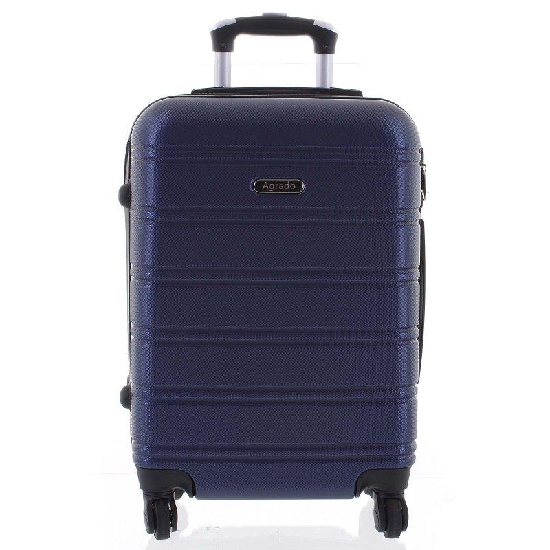 Kvalitní kufr skořepina Agrado, vel.I, 4. kolečka, tmavě modrý