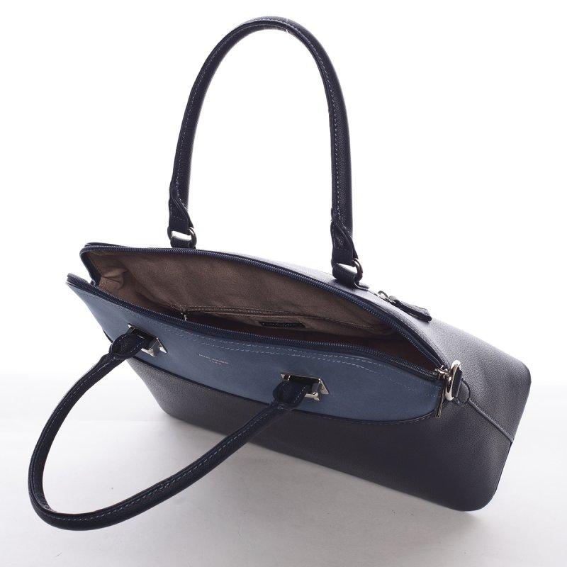 Dámská luxusní kabelka Gabriela  tmavě modrá