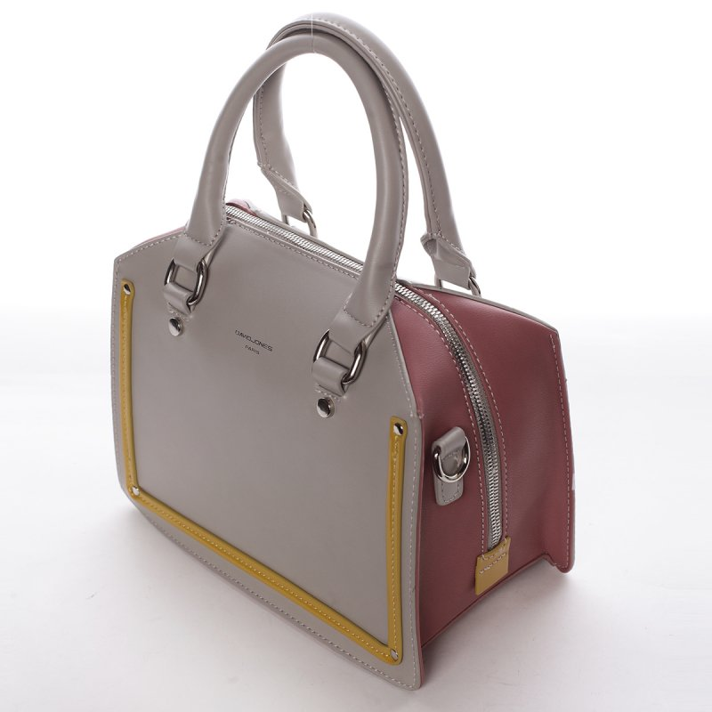 Dámská kabelka Angelika šedá/růžová