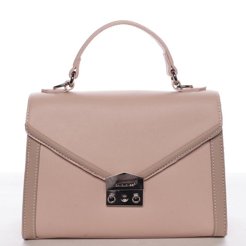 Dámská elegantní kabelka Eleonora růžová