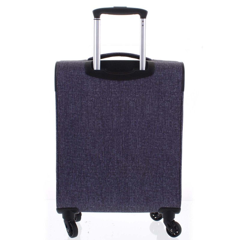 Látkový odlehčený kufr Menqite 4.kolečka, velikost II, světle šedý