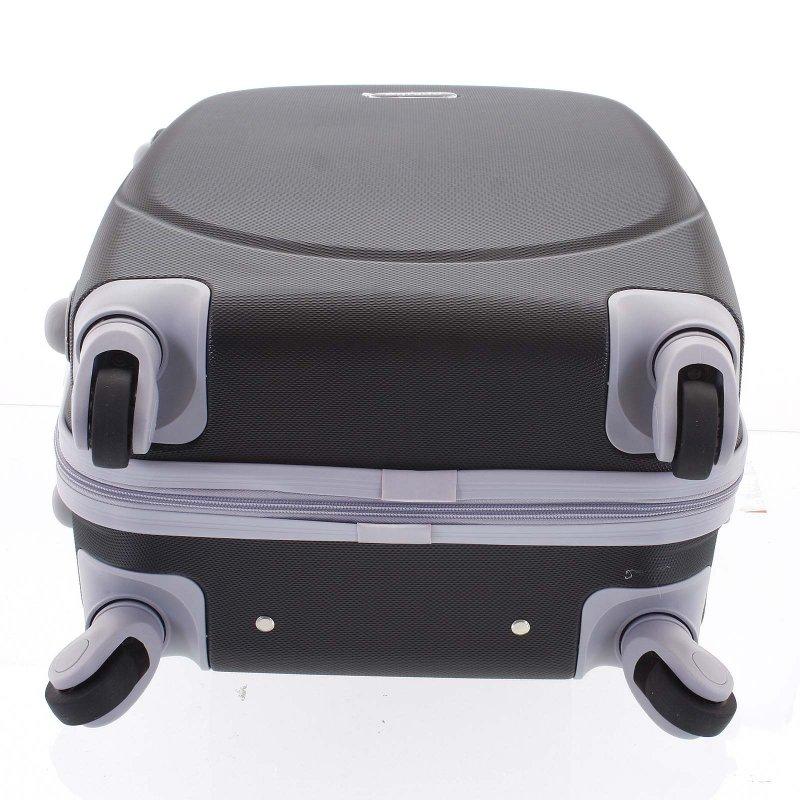 Elegantní kufr skořepinový Agrado vel.II, 4.kolečka, černý