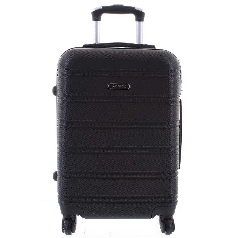 Kvalitní kufr skořepina Agrado, vel.II, 4. kolečka, černý