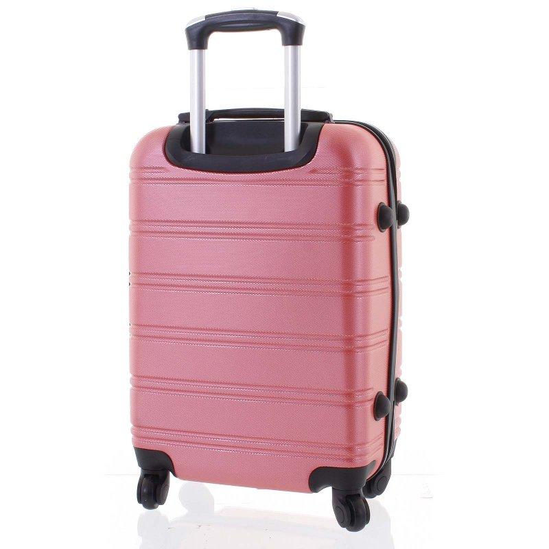 Kvalitní kufr skořepina Agrado, vel.II, 4. kolečka, růžový