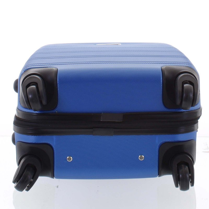 Kvalitní kufr skořepina Agrado, vel.III, 4. kolečka, královská modř