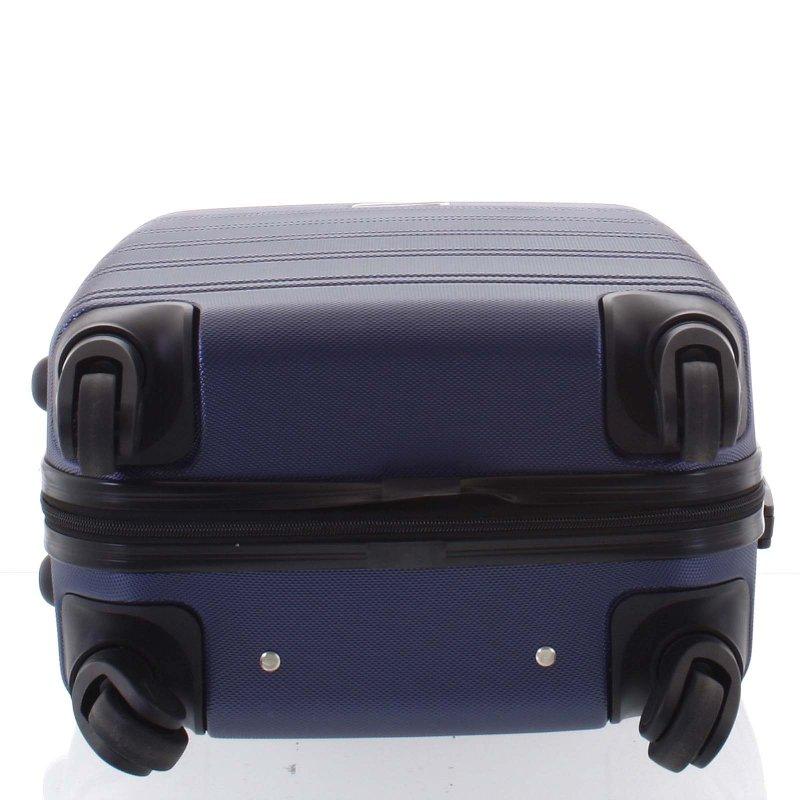 Kvalitní kufr skořepina Agrado, vel.III, 4. kolečka, tmavě modrý