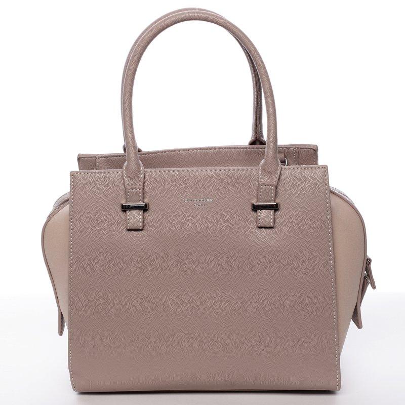 Dámská kufříková kabelka Dorota tmavě béžová