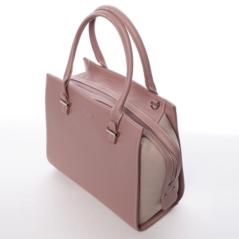 Dámská kufříková kabelka Dorota růžová