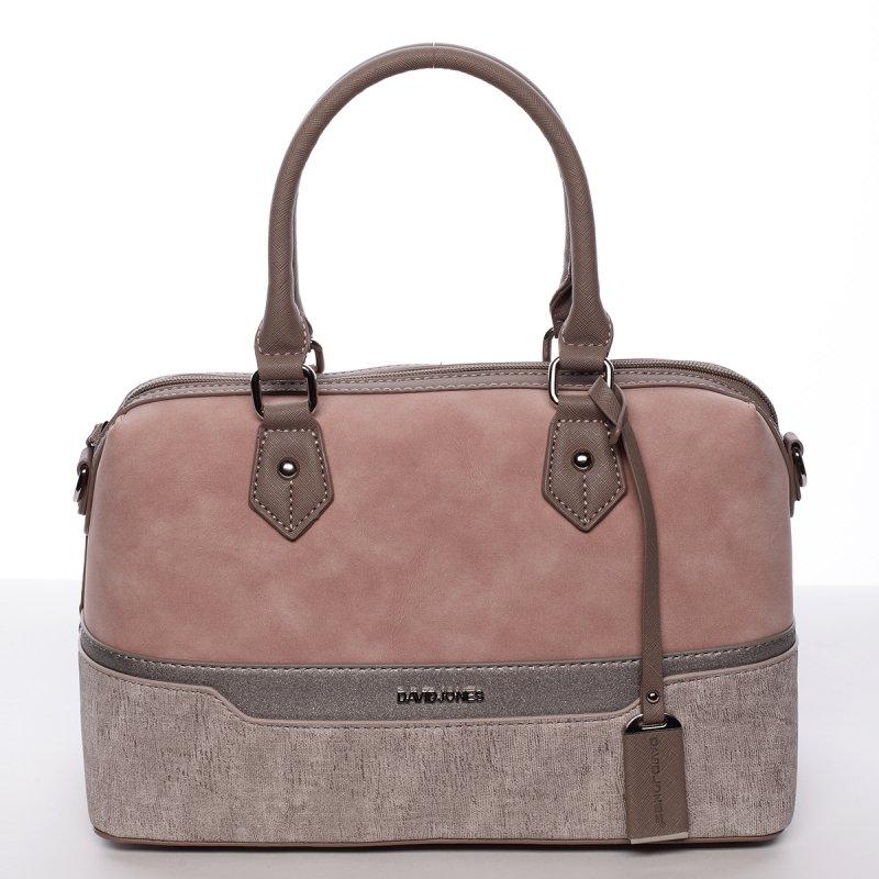 Dámská elegantní kufříková kabelka Lubica růžová