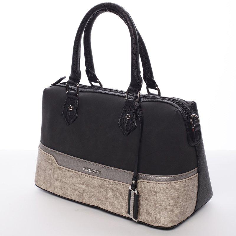 Dámská elegantní kufříková kabelka Lubica černá