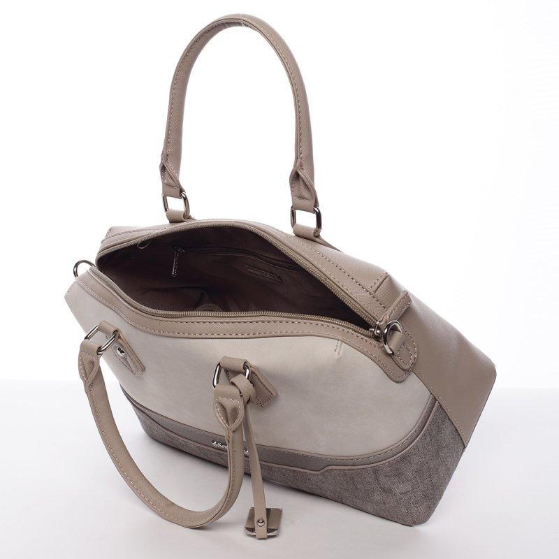 Dámská elegantní kufříková kabelka Lubica béžová