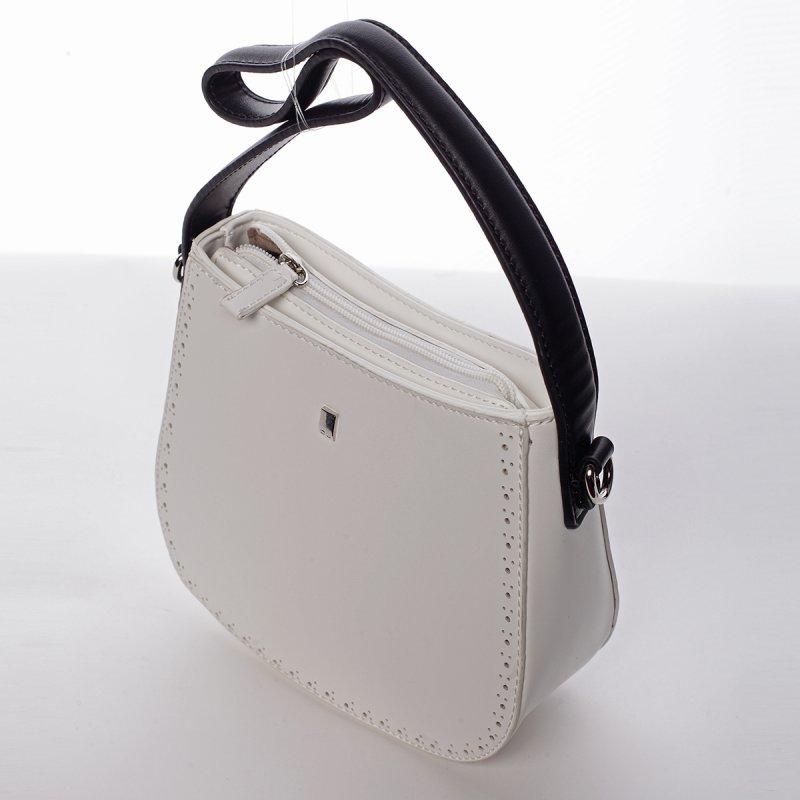 Dámská menší pevná kabelka Elena bílá