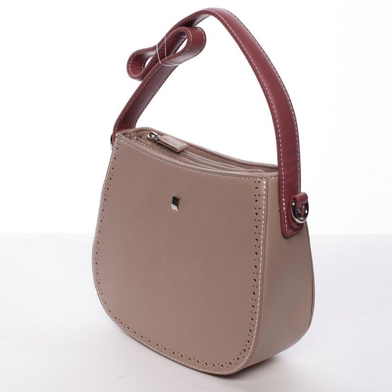 Dámská menší pevná kabelka Elena růžová