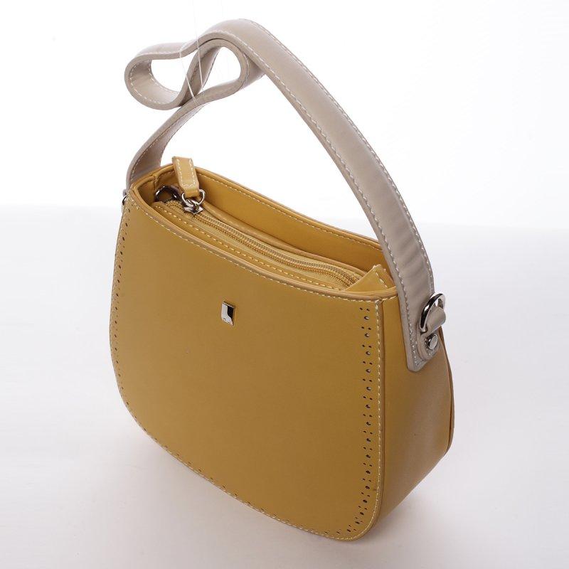 Dámská menší pevná kabelka Elena žlutá