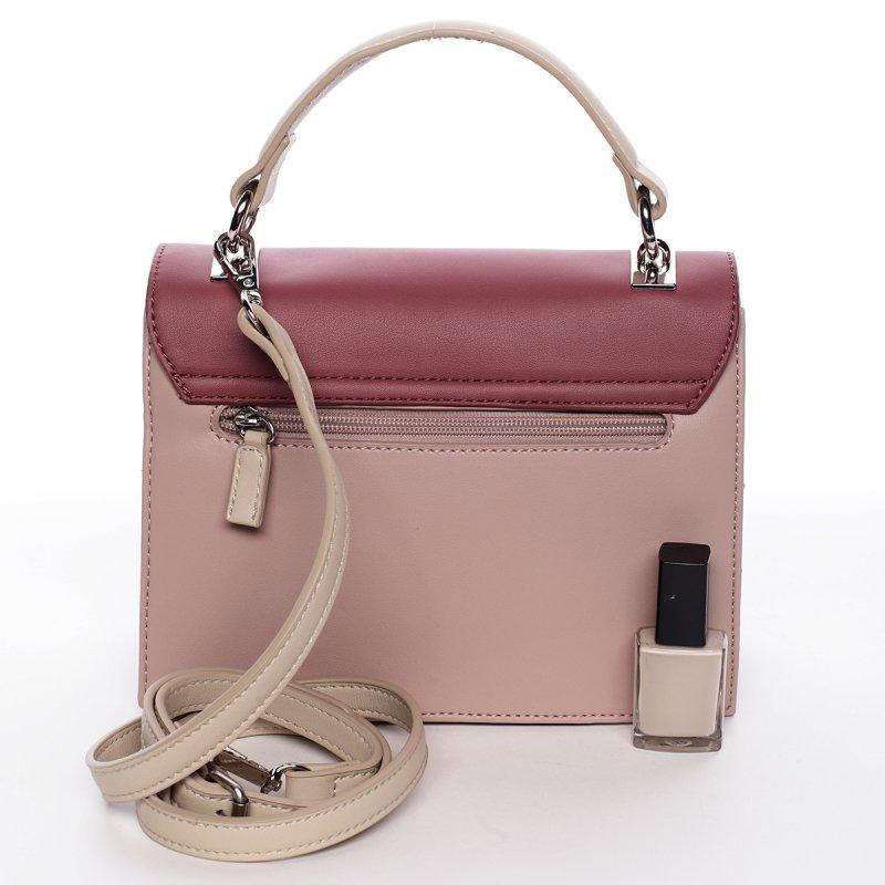 Stylová dámská crossbody kabelka MADELEINE, růžová