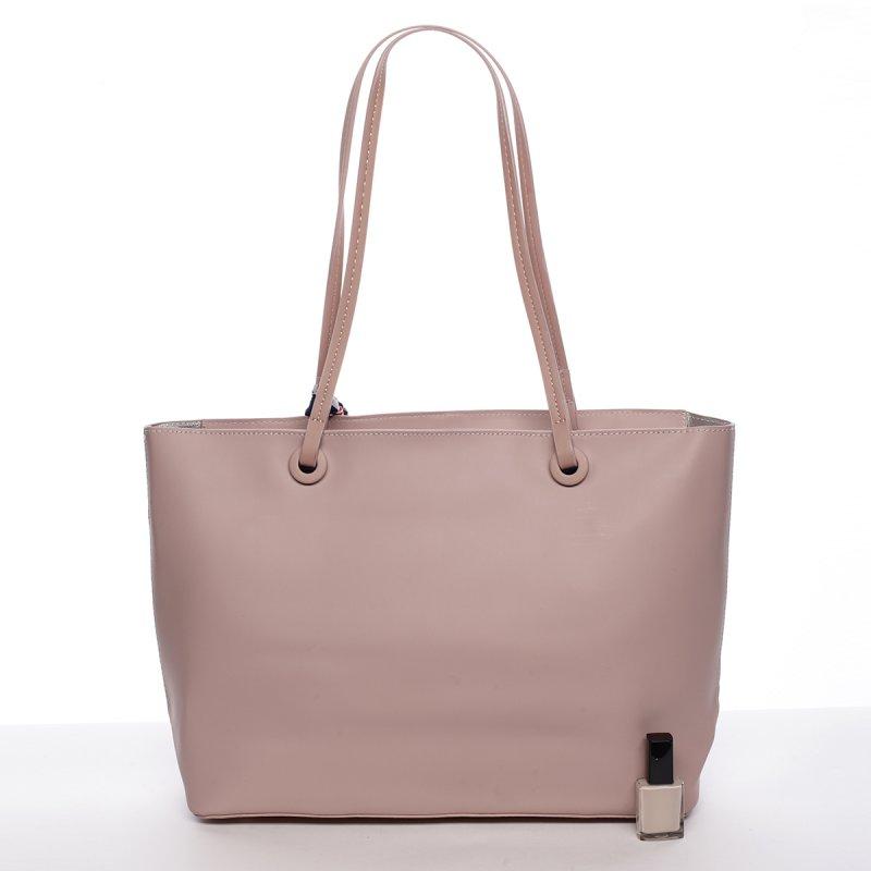 Elagentní kabelka přes rameno, růžová