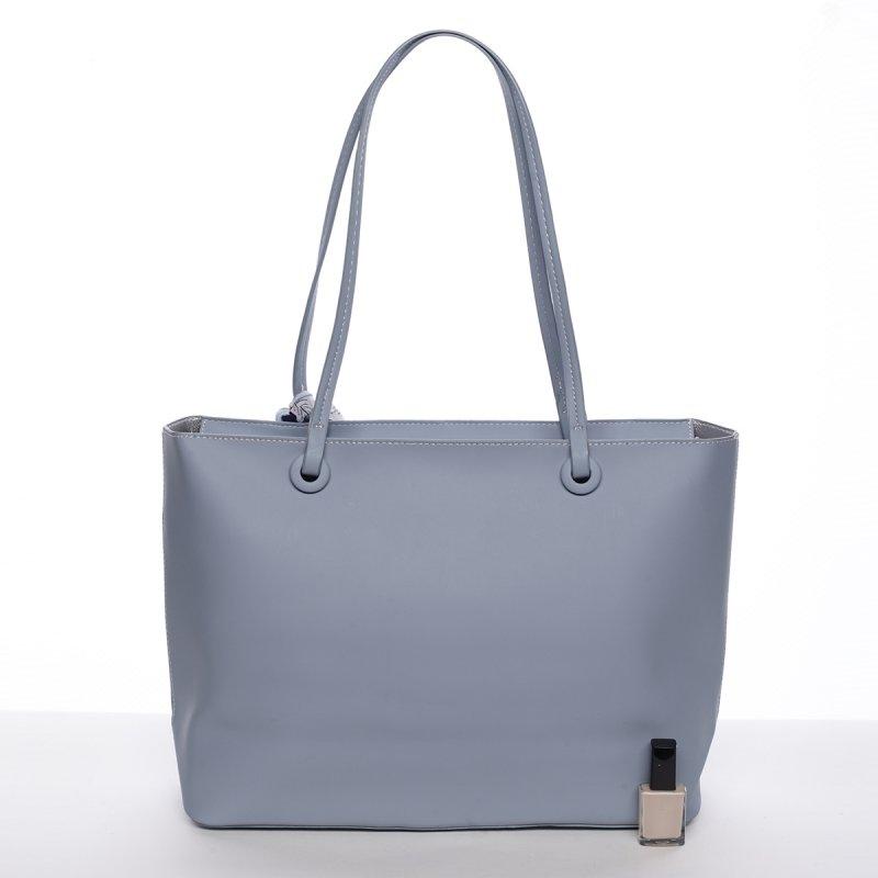 Elagentní kabelka přes rameno, pastelově modrá