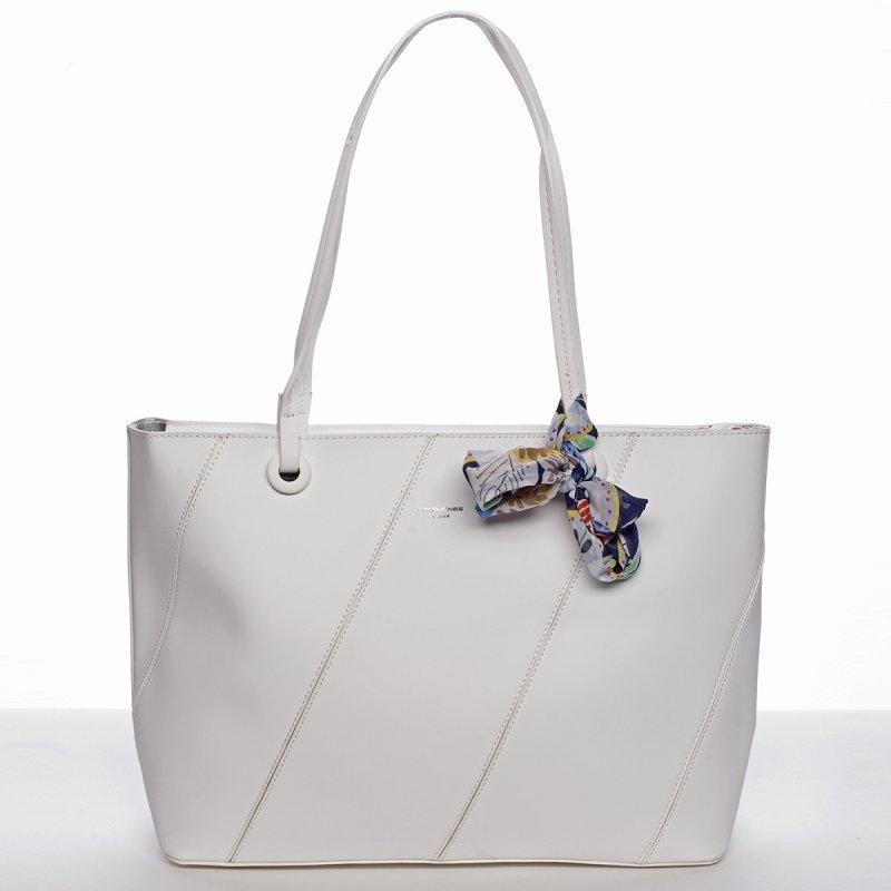 Elagentní kabelka přes rameno, bílá