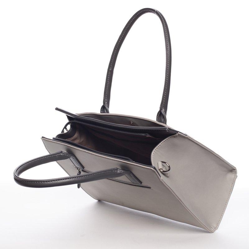 Trendy kabelka do ruky MARGUERITE, šedá