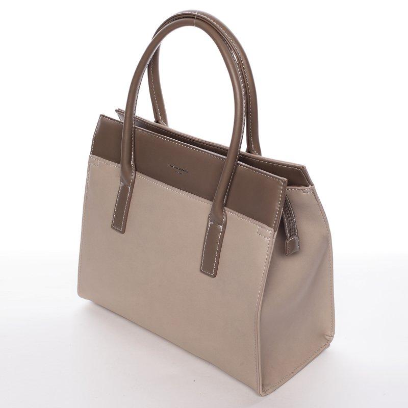 Trendy kabelka do ruky MARGUERITE, světle béžová