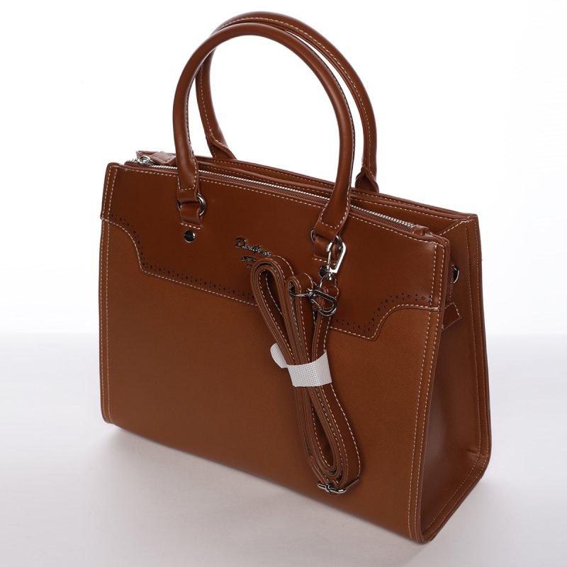 Dámská elegantní kabelka do ruky CHRISTELLE, koňaková