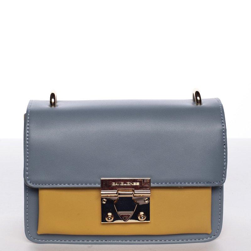 Originální crossbody kabelka ODETTE, světle modrá/žlutá
