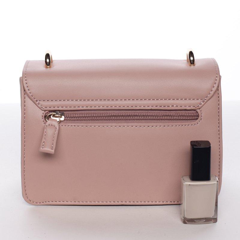 Originální crossbody kabelka ODETTE, růžová/světle šedá