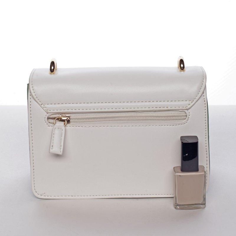 Originální crossbody kabelka ODETTE, bílá/šedá