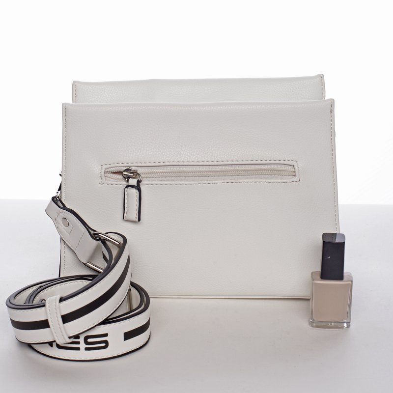 Nadčasová dámská crossbody kabelka PATRICIA, bílá