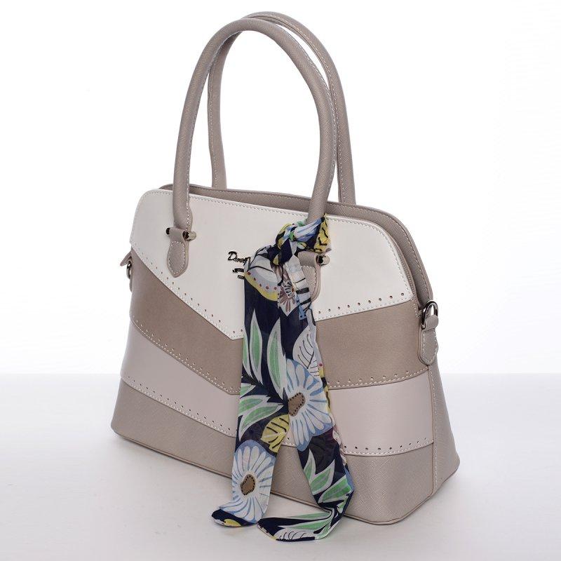Originální kabelka do ruky MARTINE, krémově šedá