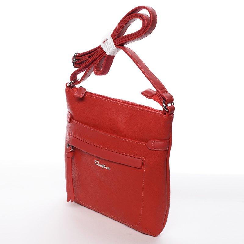 Elegantní dámská crossbody Jela červená
