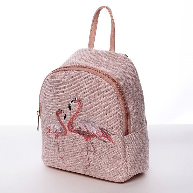 Módní dámský batůžek Anastázia růžový