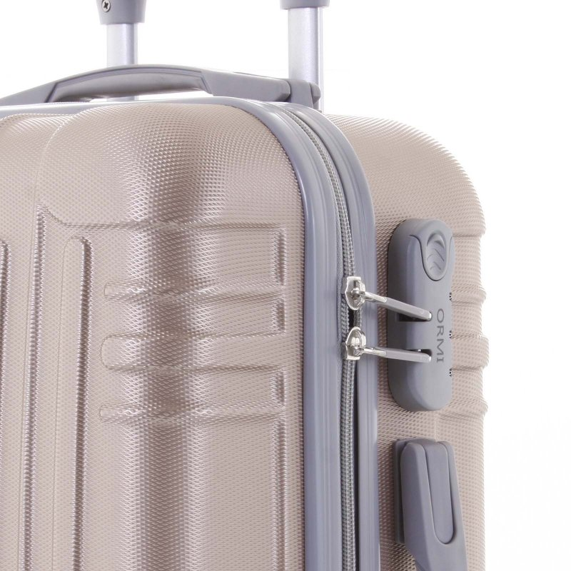 Cestovní kufr ORMI 4 kolečka, velikost II, růžově zlatý