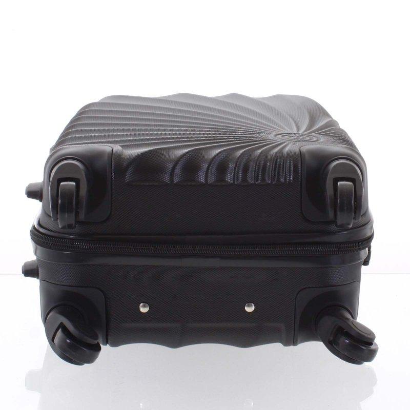 Originální skořepinový kufr ORMI, 4. kolečka, velikost II, černý